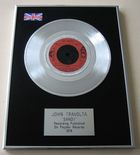 GREASE - JOHN TRAVOLTA - SANDY PLATINUM Single Presentation Disc